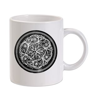 Ornamental Flower Design 11 oz. Novelty Coffee Mug