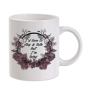 I'd Love To Talk But I'm Lying 11 oz. Novelty Coffee Mug