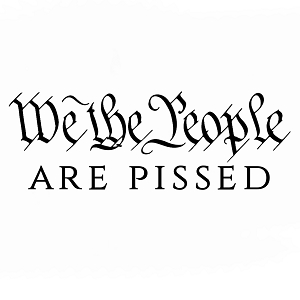 We the People Are Pissed Patriotic Vinyl Sticker Car Decal