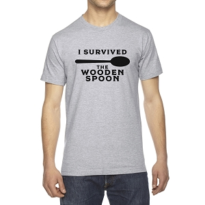 I Survived The Wooden Spoon Men's Crew Neck Cotton T-Shirt