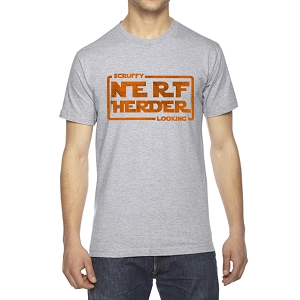 Scruffy Nerfherder Looking Men's Crew Neck Cotton T-Shirt