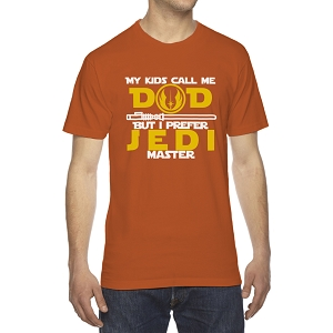 My Kids Call Me Dad But I Prefer Jedi Master Men's Crew Neck Cotton T-Shirt