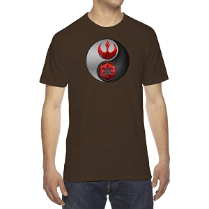 Yin Rebel Galactic Yang Men's Crew Neck Cotton T-Shirt