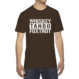 Whiskey Tango Foxtrot Men's Crew Neck Cotton T-Shirt