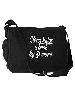 Funny Never Judge A Book By Its Movie Black Canvas Messenger Bag