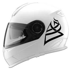 Tribal Design Auto Car Racing Motorcycle Helmet Decal