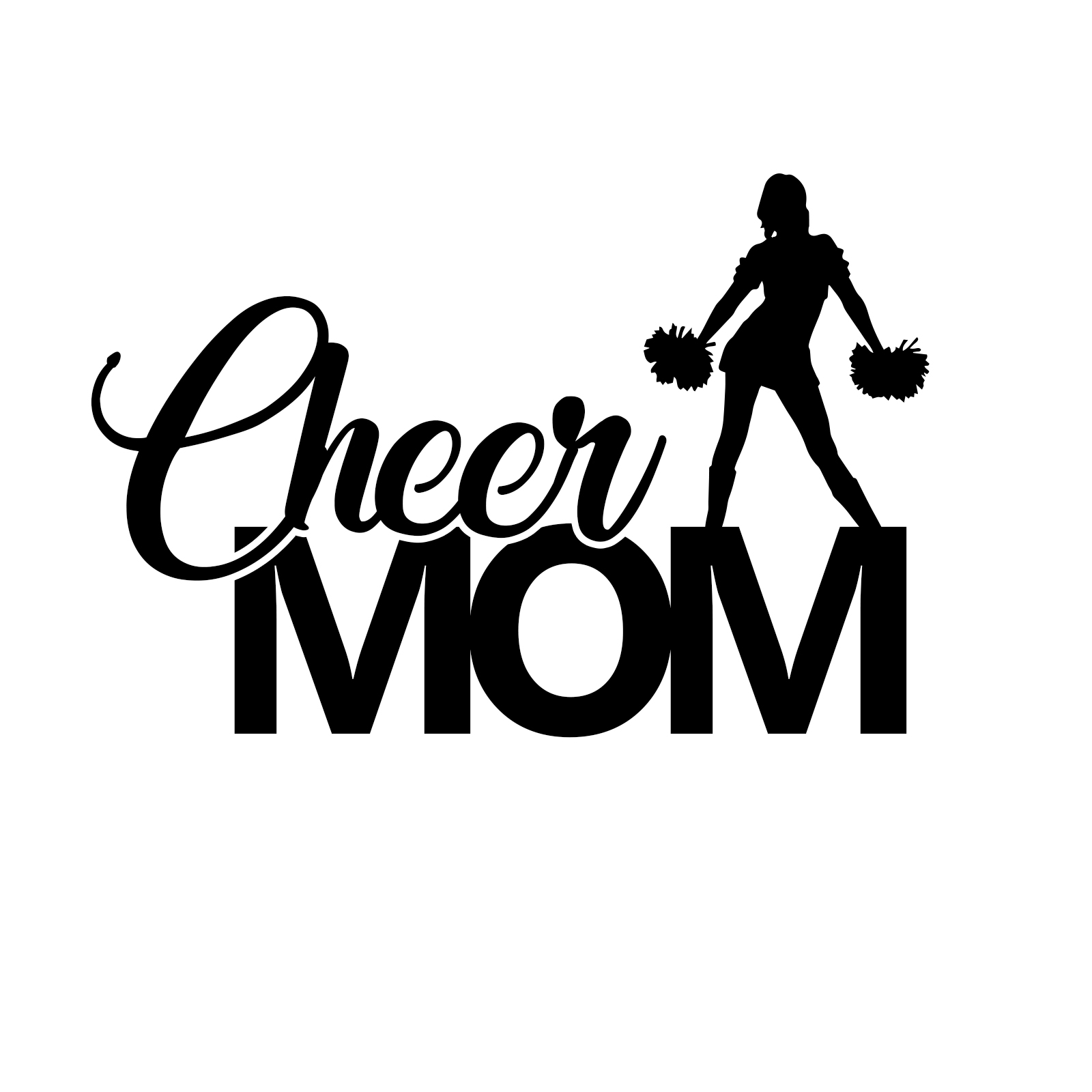 "6/"" MINT CHEER MOM w// Jumper V1 Vinyl Decal Window Sticker"