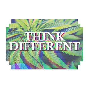 Think Different High Marijuana Pot Weed Sticker 5
