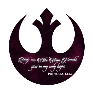 Help Me Obi Wan You Are My Only Hope Quote Rebel Sticker 5