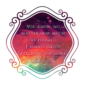 No Matter How Much We Fought Fisher Quote Carrie Sticker 5