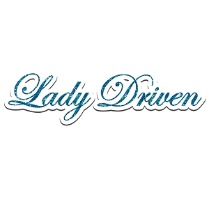Lady Driven JDM Glitter Car Girl Sticker 6