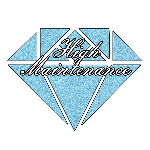 Diamond Sparkle High Maintenance Girl Glitter Sticker 5