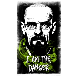 I Am The Danger Green Chemistry Smoke Heisenberg Quote Sticker 4