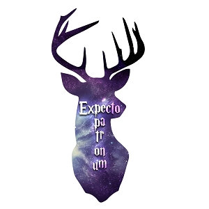 Expecto Patronum Spell Inspired Deer Head Magic Sticker 5