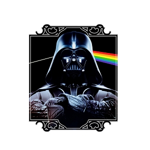 Join The Dark Side Parody Album Vader Sticker 5