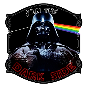Join The Dark Side Text Parody Album Vader Sticker 5