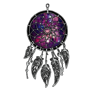Galaxy Dream Catcher Southwest Indian Sticker 5