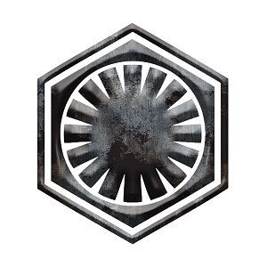 Galatic Inspired Sith Symbol Grey Grunge Sticker 5