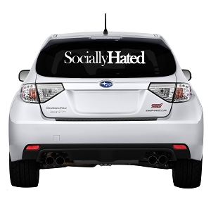 Socially Hated Rear Windshield Outdoor Vinyl Decal Sticker - 30