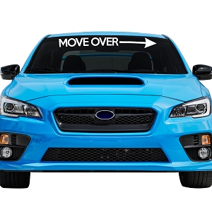 Move Over Arrow Car Windshield Banner Decal Sticker  - 4