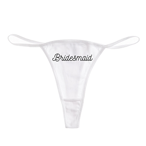 Bridesmaid Funny Women's Cotton Thong Bikini