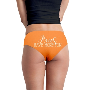 Aries Have More Fun Astrology Zodiac Sign Funny Women's Boyshort Underwear Panties