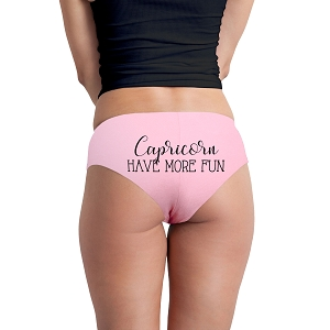 Capricorn Have More Fun Astrology Zodiac Sign Funny Women's Boyshort Underwear Panties