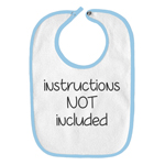 Instructions Not Included Funny Parody Infant Baby Bib