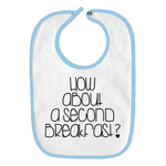 How About a Second Breakfast Funny Parody Infant Baby Bib