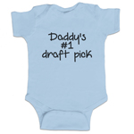 Daddy's #1 Draft Pick Funny Baby Boy Bodysuit Infant