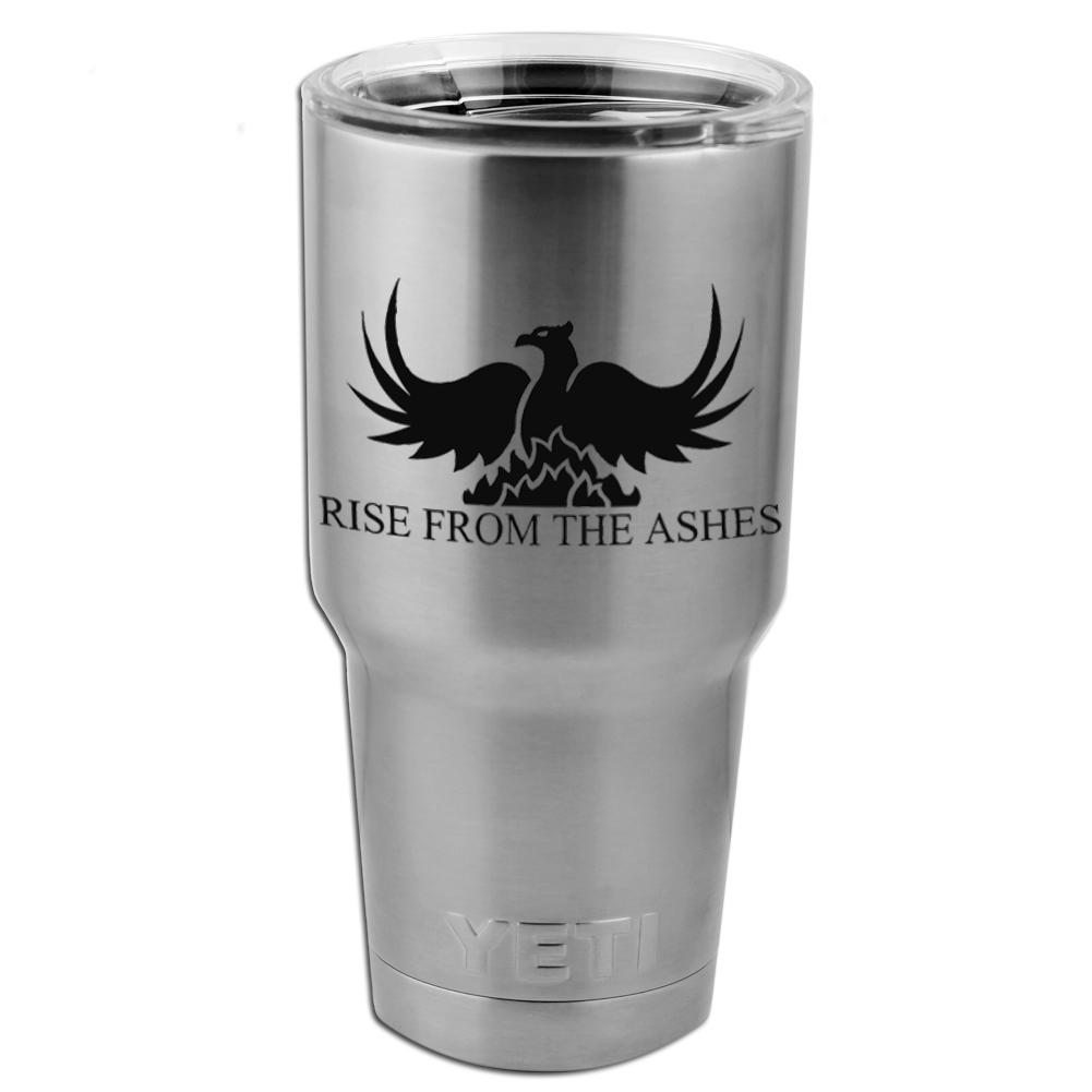 Rise From the Ashes Phoenix Vinyl Sticker Decal for Yeti Mug Cup Thermos Pint Glass (DECAL ONLY, NO CUP)