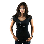 Calvary Hill Silhouette Crosses Christian Women's T-Shirt