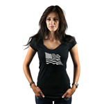 Waving USA Flag Patriotic Women's T-Shirt