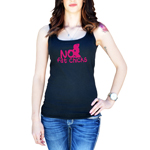 Funny JDM No Fat Chicks BBW Women's Tank Top