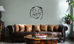 Funny Laughing Meme Face Vinyl Wall Mural Decal Home Decor Sticker