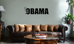 Funny Stick Figure Humping F*ck Obama Vinyl Wall Mural Decal Home Decor Sticker