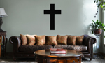 Religious Christian Cross Silhouette Vinyl Wall Mural Decal Home Decor Sticker