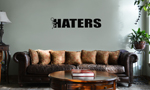 Funny Humping Stick Figure F*ck Haters Vinyl Wall Mural Decal Home Decor Sticker