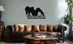 Thick Girl Sexy BBW Silhouette Vinyl Wall Mural Decal Home Decor Sticker