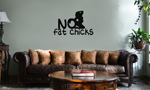 Funny JDM No Fat Chicks BBW Vinyl Wall Mural Decal Home Decor Sticker