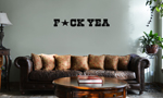 Funny F*ck Yeah Star Vinyl Wall Mural Decal Home Decor Sticker