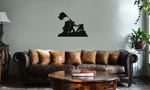Iwo Jima WWII Silhouette Vinyl Wall Mural Decal Home Decor Sticker